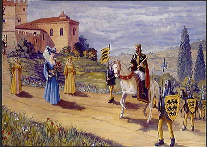 Incontro tra Federico II e Bianca Lancia